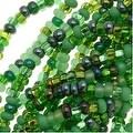 Czech Seed Beads 11/0 Mix Lot Irish Green Emerald - Thumbnail 0