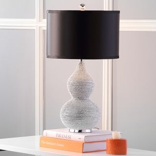 """Link to Safavieh Lighting 24-inch Silver Beaded Table Lamp (Set of 2) - 14""""x14""""x24.5"""" Similar Items in Table Lamps"""