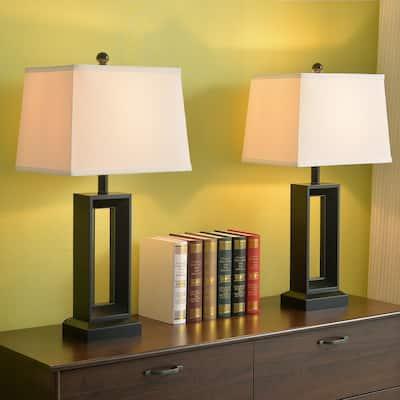 "Katy 2-Pack 28"" 3-way Table Lamp - Black"