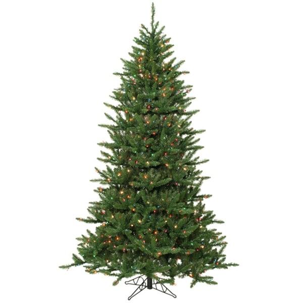 14' Pre-Lit Frasier Fir Artificial Christmas Tree & Stand - Multi Dura Lights - green