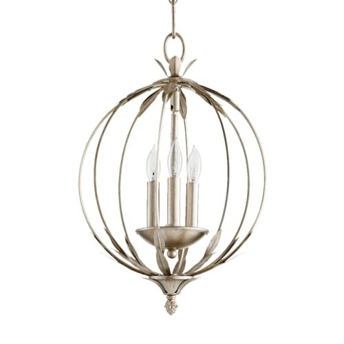 "Quorum International 6372-3 Flora 3 Light 13"" Wide Globe Style Chandelier"
