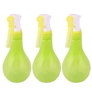 Canteen Plastic Watering Plant Trigger Spray Bottle Green Yellow 290ml 3 Pcs - green yellow
