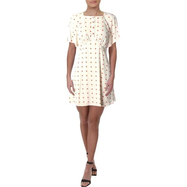 Juicy Couture Black Label Womens Flirty Casual Dress Georgette Polka Dot