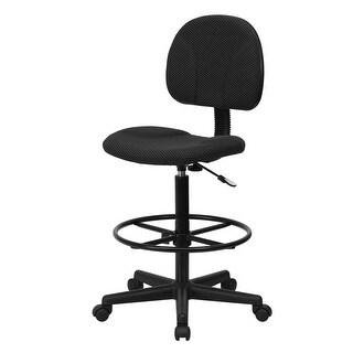 "Delacora FF-BT-659  20"" Wide Fabric Drafting Chair"