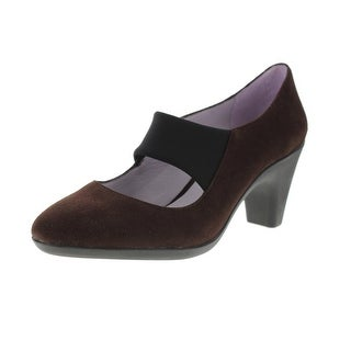 Johnston & Murphy Womens Denise Solid Round Toe Mary Jane Heels