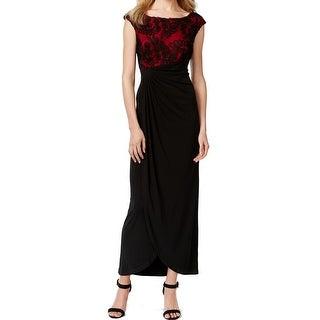 Connected Apparel NEW Red Black Women's Size 6 Soutache Sheath Dress
