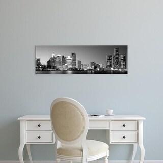Easy Art Prints Panoramic Image 'City at the waterfront, Lake Erie, Detroit, Wayne County, Michigan, USA' Canvas Art