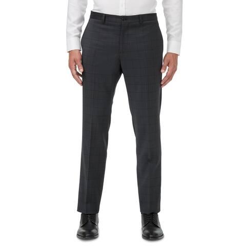 Armani Exchange Mens Dress Pants Solid Office Wear - Dark Gray - 42S