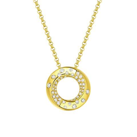 Vedantti 0.35Ct Round G-H/VVS1 Natural Diamond Open-Circel Polka Dots Everyday Wear Pendant - White