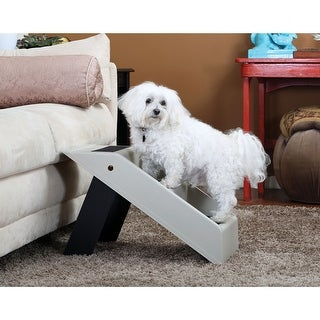 Plastic Folding Pet Steps - Gray