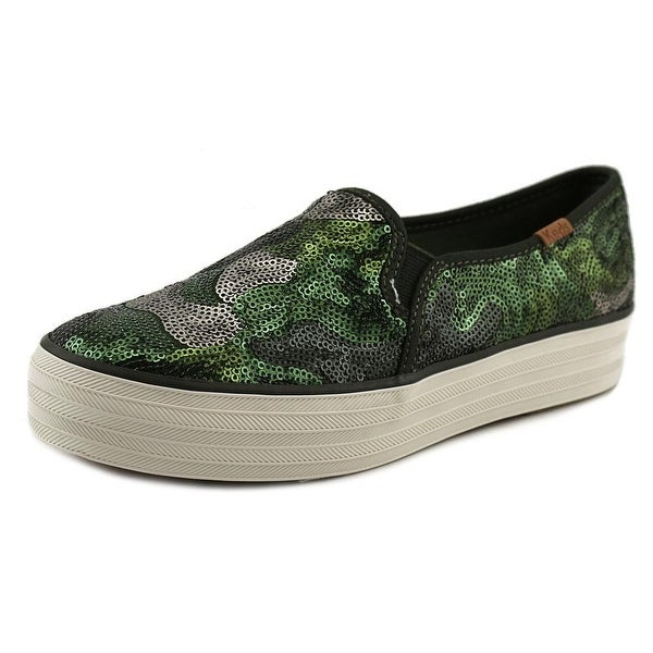 Keds Trip Deck Camo Sequin Women  Round Toe Synthetic Green Loafer