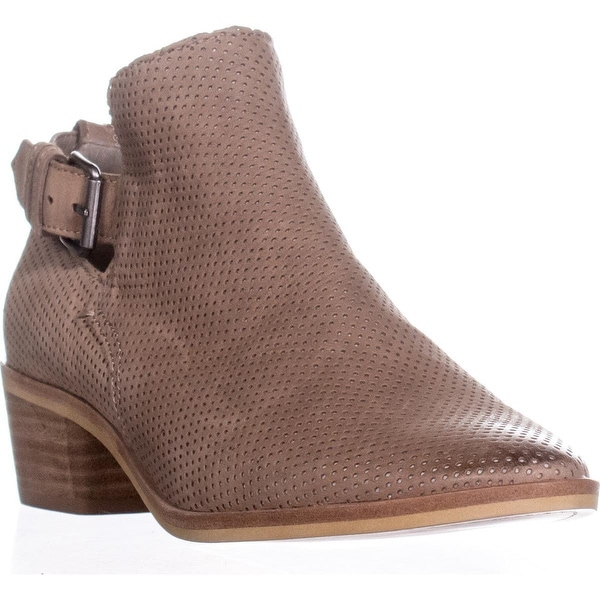 Dolce Vita Kara Perforated Ankle Boots, Taupe