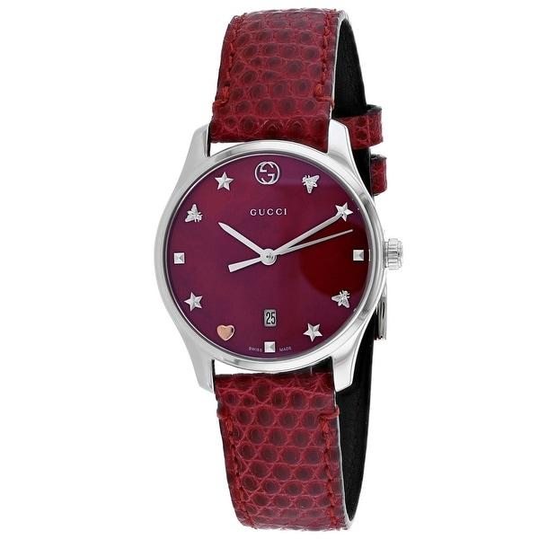 c85121e3a8d3 Shop Gucci Women  s G-Timeless - YA126584 Watch - Free Shipping Today -  Overstock - 26483735