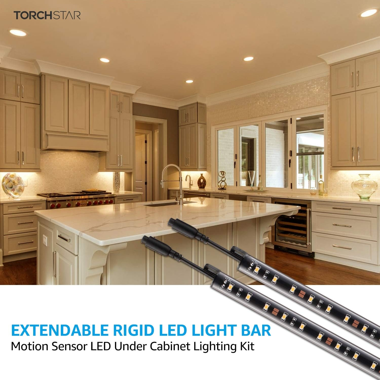 6pcs Motion Led Under Cabinet Lighting Kit Extendable Bar Light Warm White On Sale Overstock 15280758