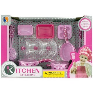 Kole Imports OL909-6 Kids Kitchen Play Set - Pack of 6