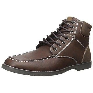 Madden Mens Jaxson Faux Leather Lace-Up Ankle Boots - 10 medium (d)