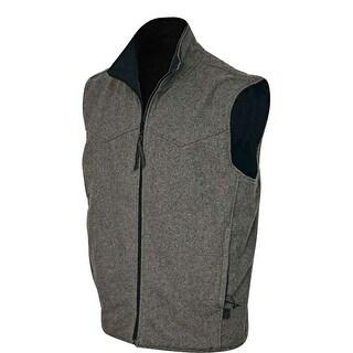 StS Ranchwear Western Vest Men Microfiber Wool Zip Ewing Black