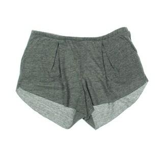 Chaser Womens Pajama Shorts Heathered Pleated - M