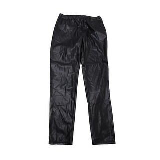 Lauren Ralph Lauren Plus Size Black Faux-Leather Leggings 18W
