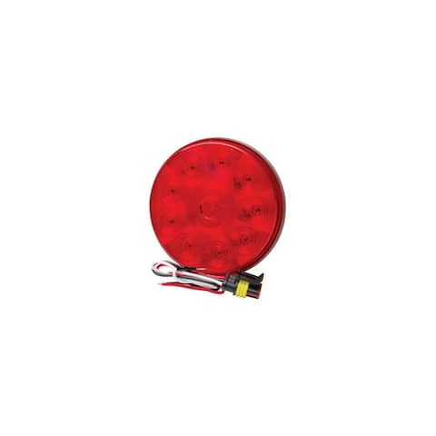 Roadpro r rp-5523 rpt 4 led low profile round sealed stop turn tail light red