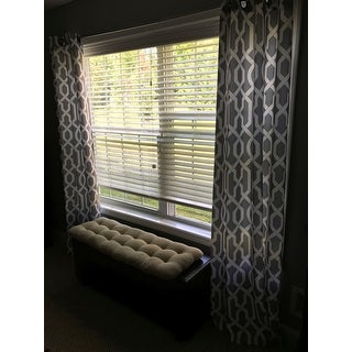 ATI Home Geometric Thermal Insulated Grommet Top Curtain Panel Pair