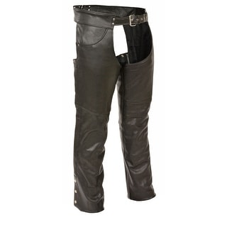 Mens Classic Leather Chaps With Jean Pockets Tall