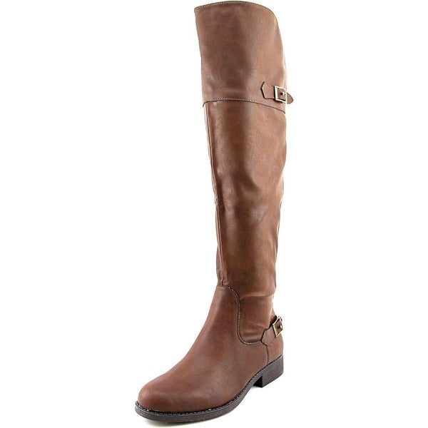 American Rag Adap Wide Calf Women Round Toe Synthetic Brown Knee High Boot