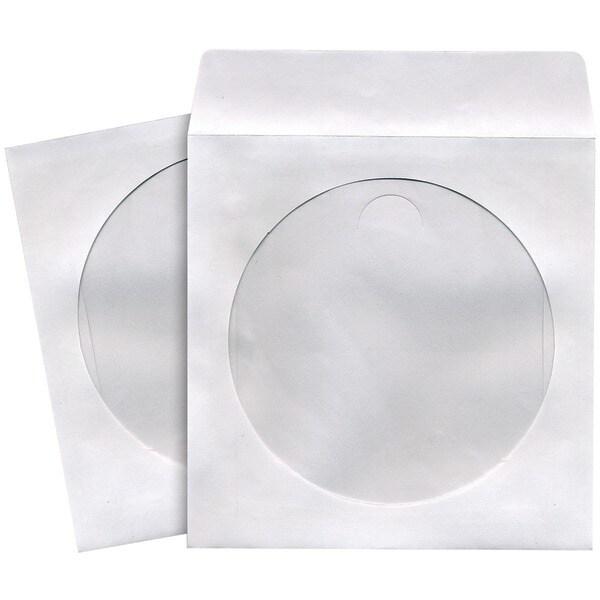 Maxell 190133 - Cd402 Cd/Dvd Storage Sleeves (100 Pk; White)