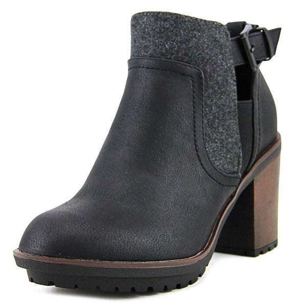 Rocket Dog Reese Women Round Toe Synthetic Black Ankle Boot