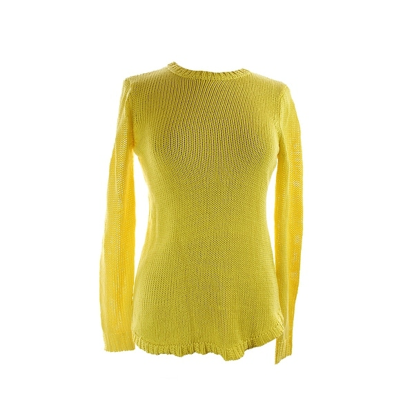 Sweaters Lauren Ralph Lauren Yellow Long-sleeve Crew Neckline Sweater L