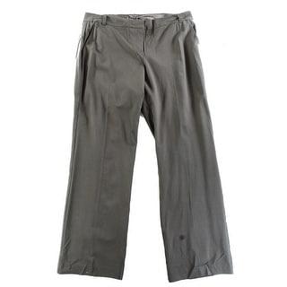 Eileen Fisher NEW Brown Women's Size 16X32 Straight Leg Dress Pants