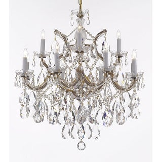 Maria Theresa Crystal Chandelier w/ Large, Luxe, Diamond Cut Crystals