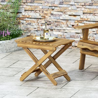 Malibu Outdoor Folding Side Table by Christopher Knight Home