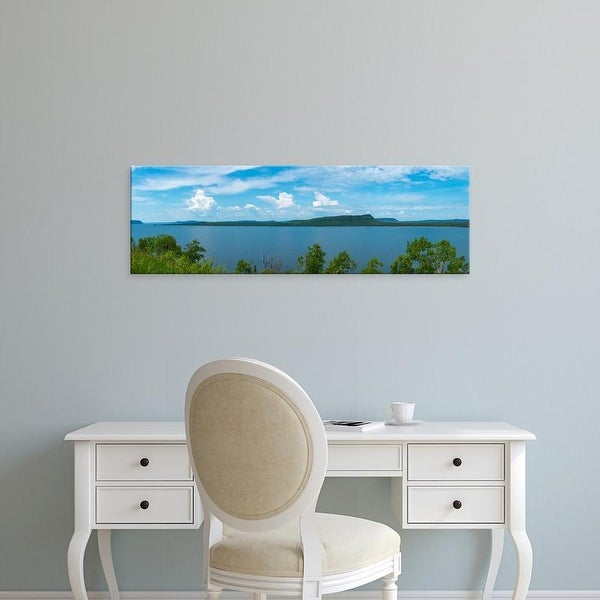 Easy Art Prints Panoramic Images's 'Bay from North Shore of Lake Superior, Ontario, Canada' Premium Canvas Art
