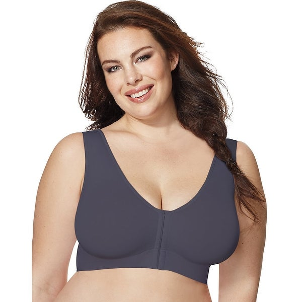 dccfd5f6a88d4 Shop Just My Size Pure Comfort® Front-Close Wirefree Bra - Free Shipping On  Orders Over  45 - Overstock.com - 26950551