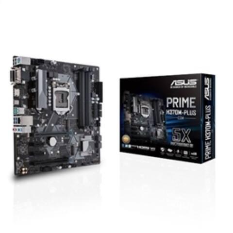 ASUS Motherboard Prime H370M-PLUS/CSM S1151 H370 DDR4 HDMI DVI VGA M.2 mATX Retail
