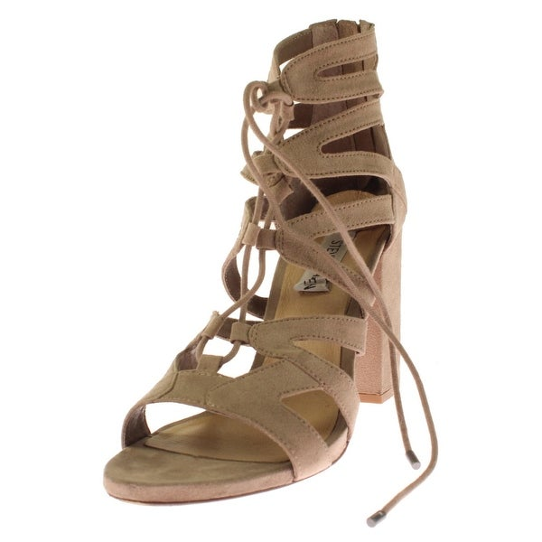 Steve Madden Womens Gal Dress Sandals Microsuede Caged