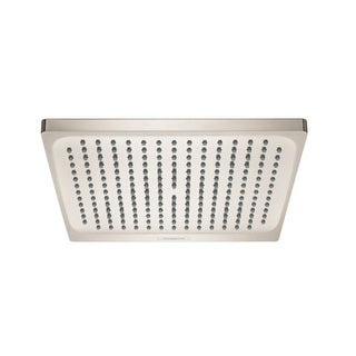hansgrohe crometta 2 gpm single function rain shower head with quick clean