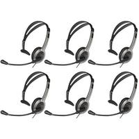 Panasonic KX-TCA430 (6 Pack) Telephone Headset w/ Noise Cancelation Mic Volume Control