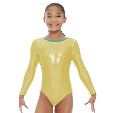 VEVA by Very Vary Girls Citron Mystique Gymnastics Leotard 10