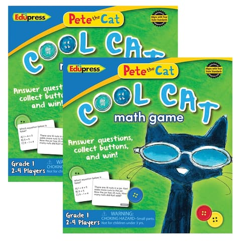 (2 Ea) Pete The Cat Cool Cat Math Game G-1