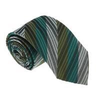 Missoni U5295 Green/Silver Awning 100% Silk Tie - 60-3