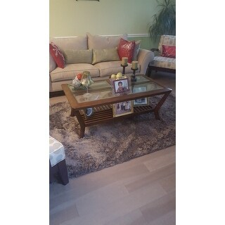 Affinity Home Solid Shag Area Rug 5 X8 Free Shipping