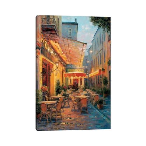 "iCanvas ""Cafe Van Gogh 2008, Arles France"" by Haixia Liu Canvas Print"