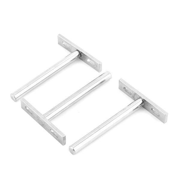 Furniture Cupboard Stainless Steel T Shaped Shelf Support Holder Stand Bracket 3pcs