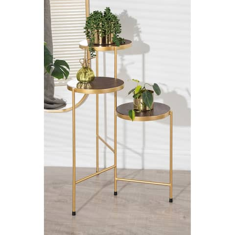Kate and Laurel Fields Tri-Level Metal Plant Stand