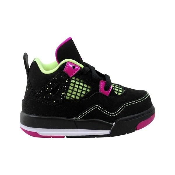 low priced 10bbb 6751d Nike Toddler Air Jordan IV 4 Retro GT Black/Fuchsia Flash-LQD Lime-White  Fuchsia Lime 705345-027