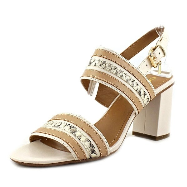 Coach Womens Princeton Leather Open Toe Casual Slingback Sandals