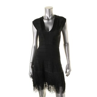 French Connection Womens Sleeveless V-Neck Cocktail Dress - 2