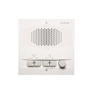 NuTone NRS104 4-Wire Indoor Remote Intercom Station with AM/FM Radio Tuner and 16 Radio Settings